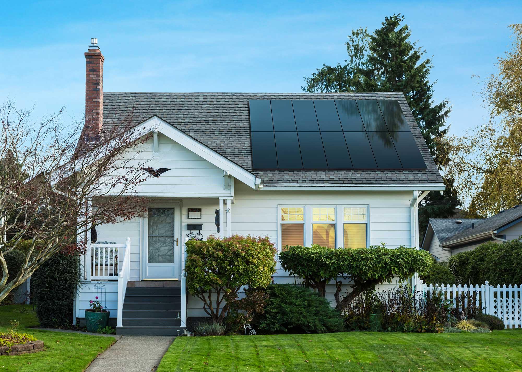 east coast home with panels