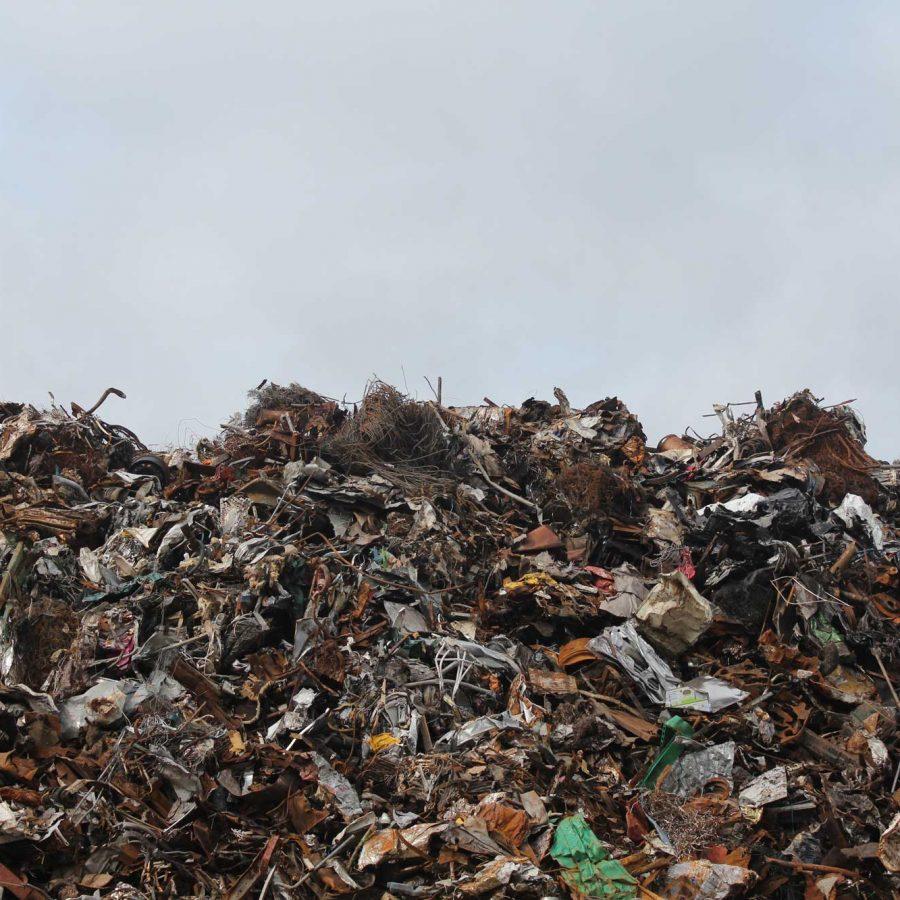 waste in dump