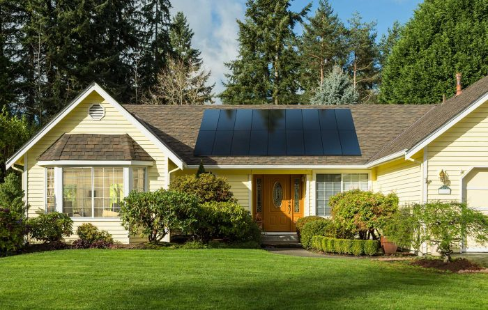 yellow house with sunpower by bluesel panels