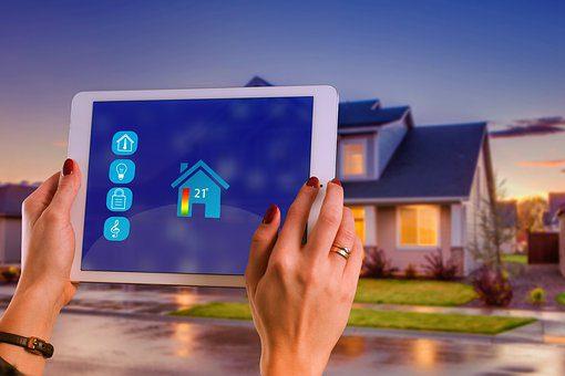 Smart Home Energy Data on Tablet