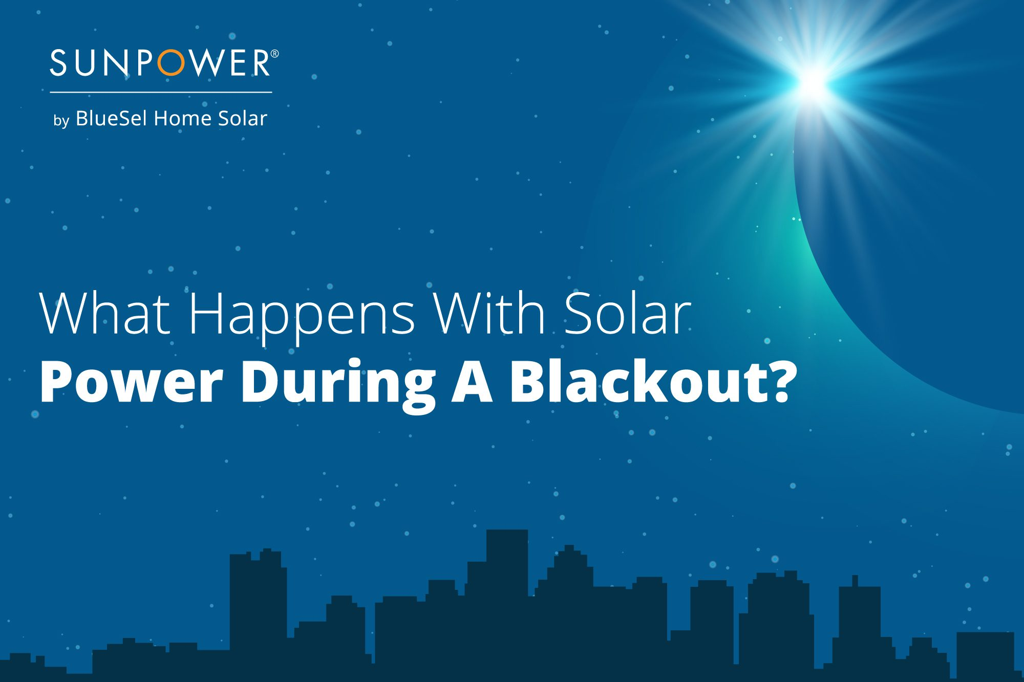 What happens with solar power during a blackout