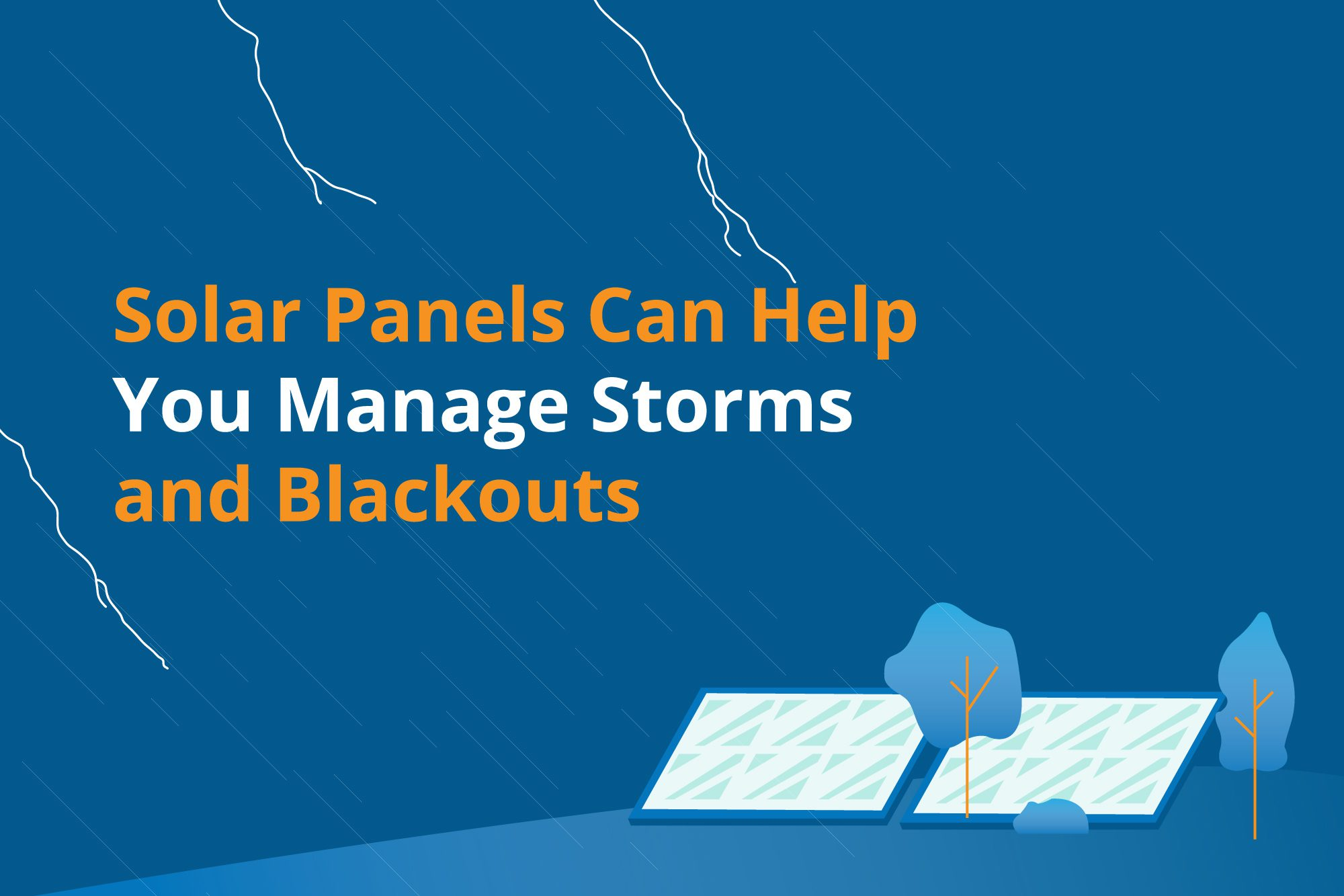 Solar panels can help manage storms