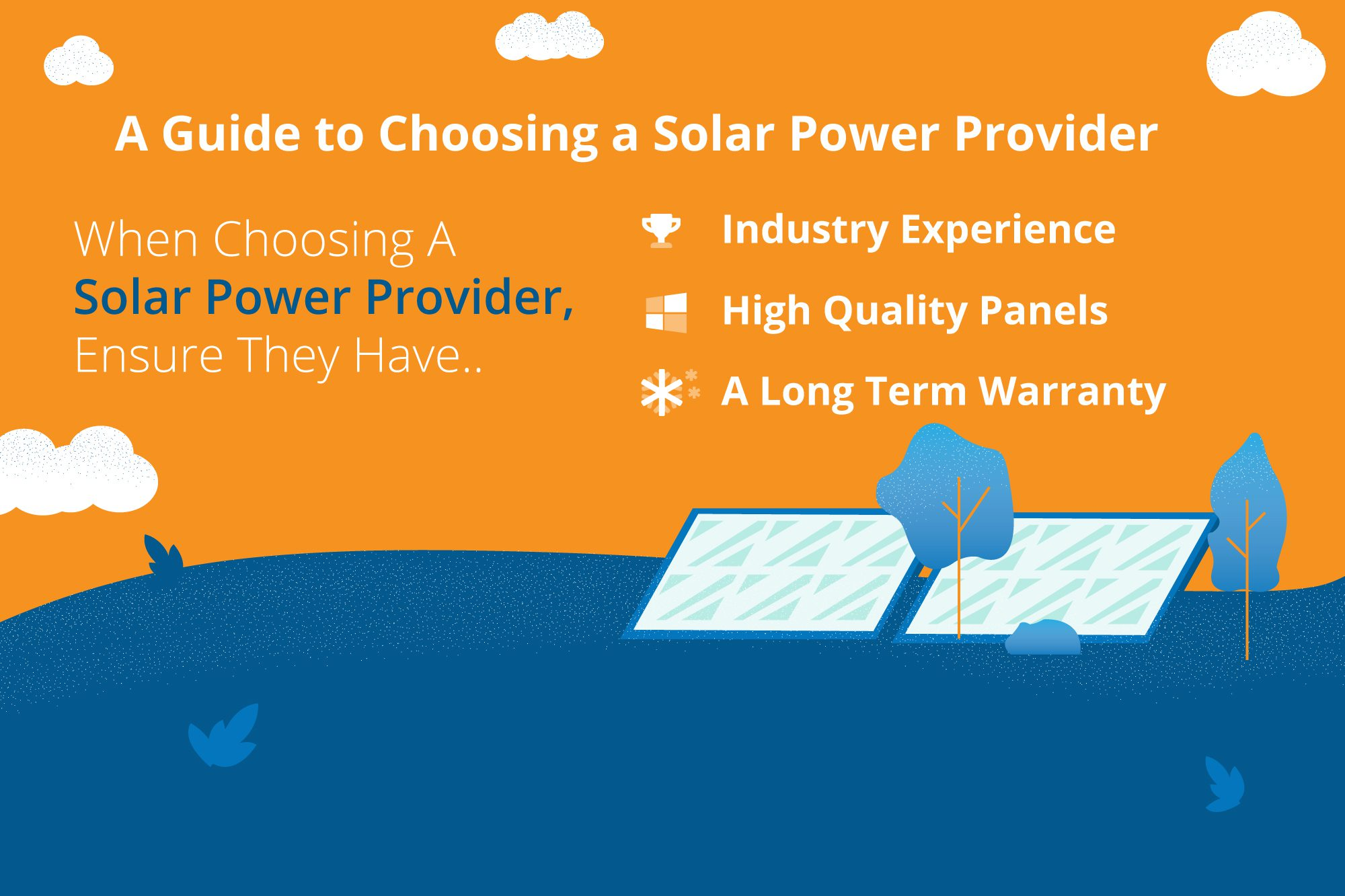 How to choose a solar power provider