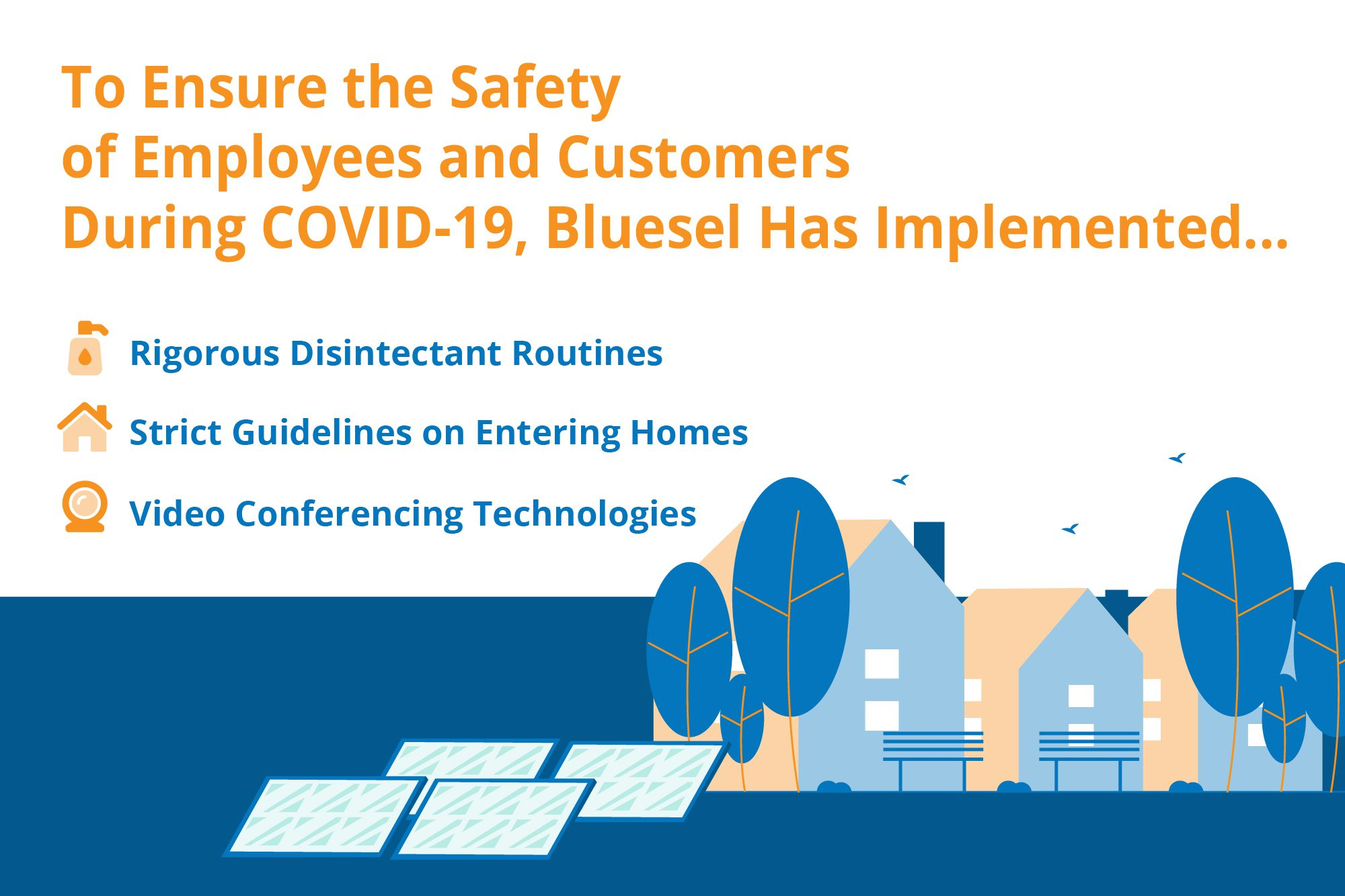 Inforgraphic detailing health and safety