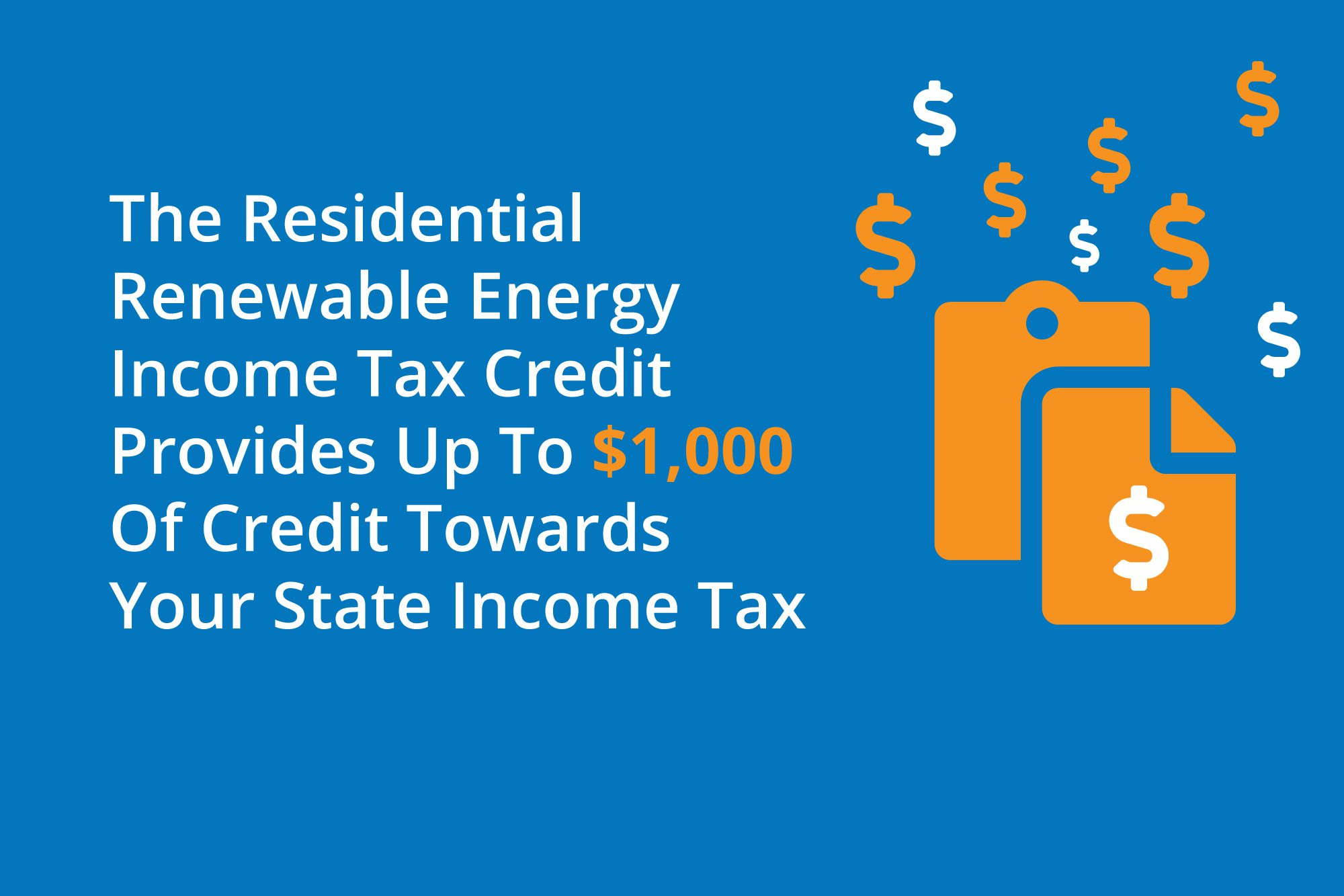 An infographic with information about solar tax credits