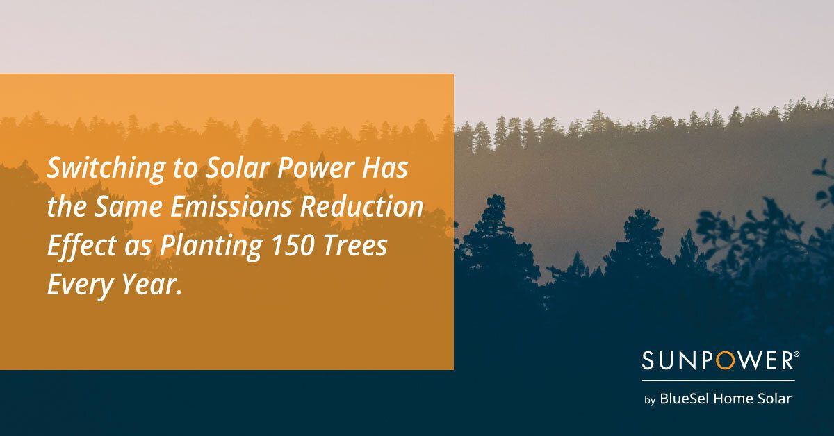 Solar Power Emissions Reduction Graphic