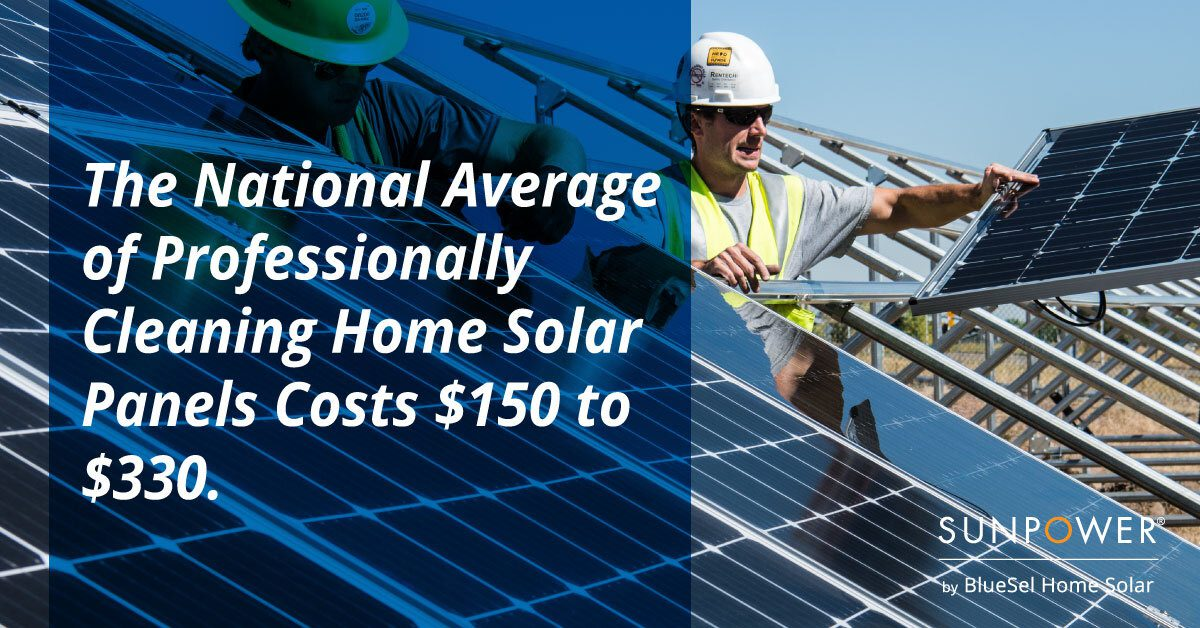 Solar Panel Professional Cleaning Costs Graphic