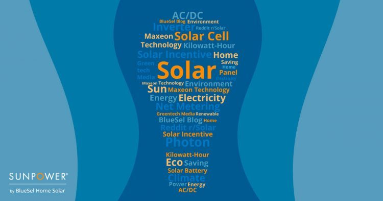 Solar Power Terms Graphic