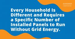 Every household requires a different amount of panels to run without grid energy.
