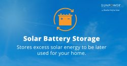 solar battery storage stores excess produced energy to be later used by your home