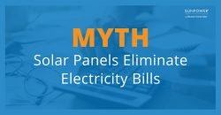 Solar Panels will most likely NOT eliminate your electric bill completely.