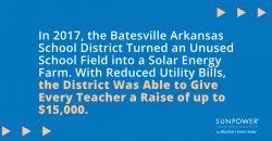 Arkansas School Goes Solar and Raises Salaries