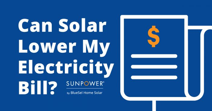 can solar lower my electricity bill?