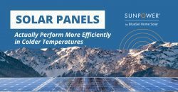 solar panels actually perform more efficiently in colder temperatures